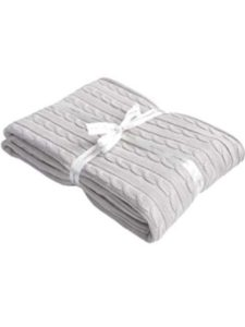 gray knit throw blankets