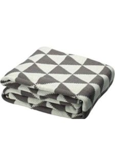 uxcell    gray knit throw blankets